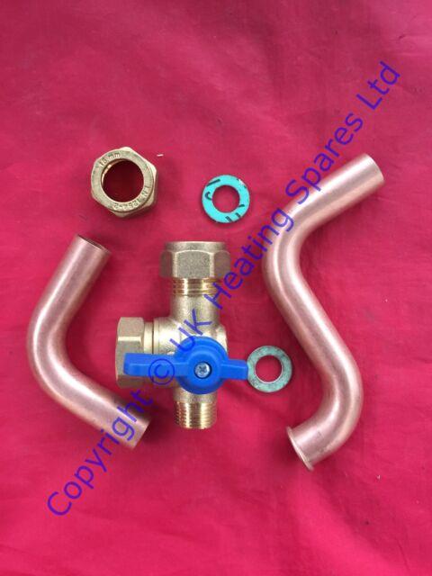 Ideal Logic E24 E30 & E35 WW Inländisch Heiss Wasser Packung Absperrventil