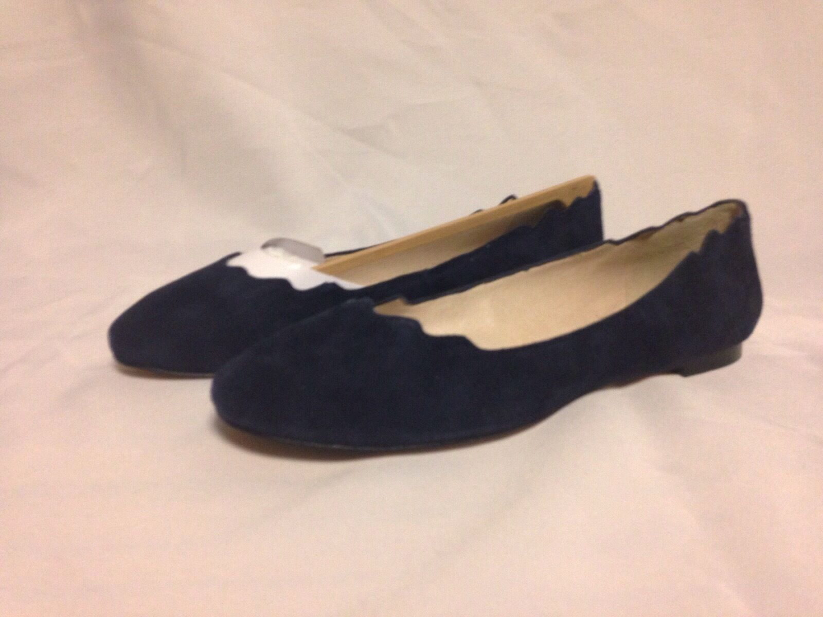 Sam Edelman Augusta Scalloped Edge Loafer 6 M Ink blu Suede New with Box
