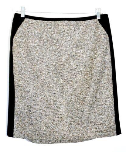 White Black NWT $88 White House Black Market Tweed Panel Pencil Skirt