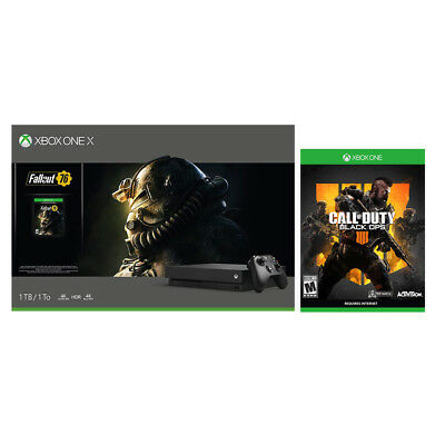 Xbox One X 1TB Console with Fallout 76 + Call of Duty: Black Ops 4 Bundle