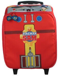 Boys-Fireman-Sam-Novelty-Wheeled-Case-Red-Travel-Holiday-Summer-25-Litres