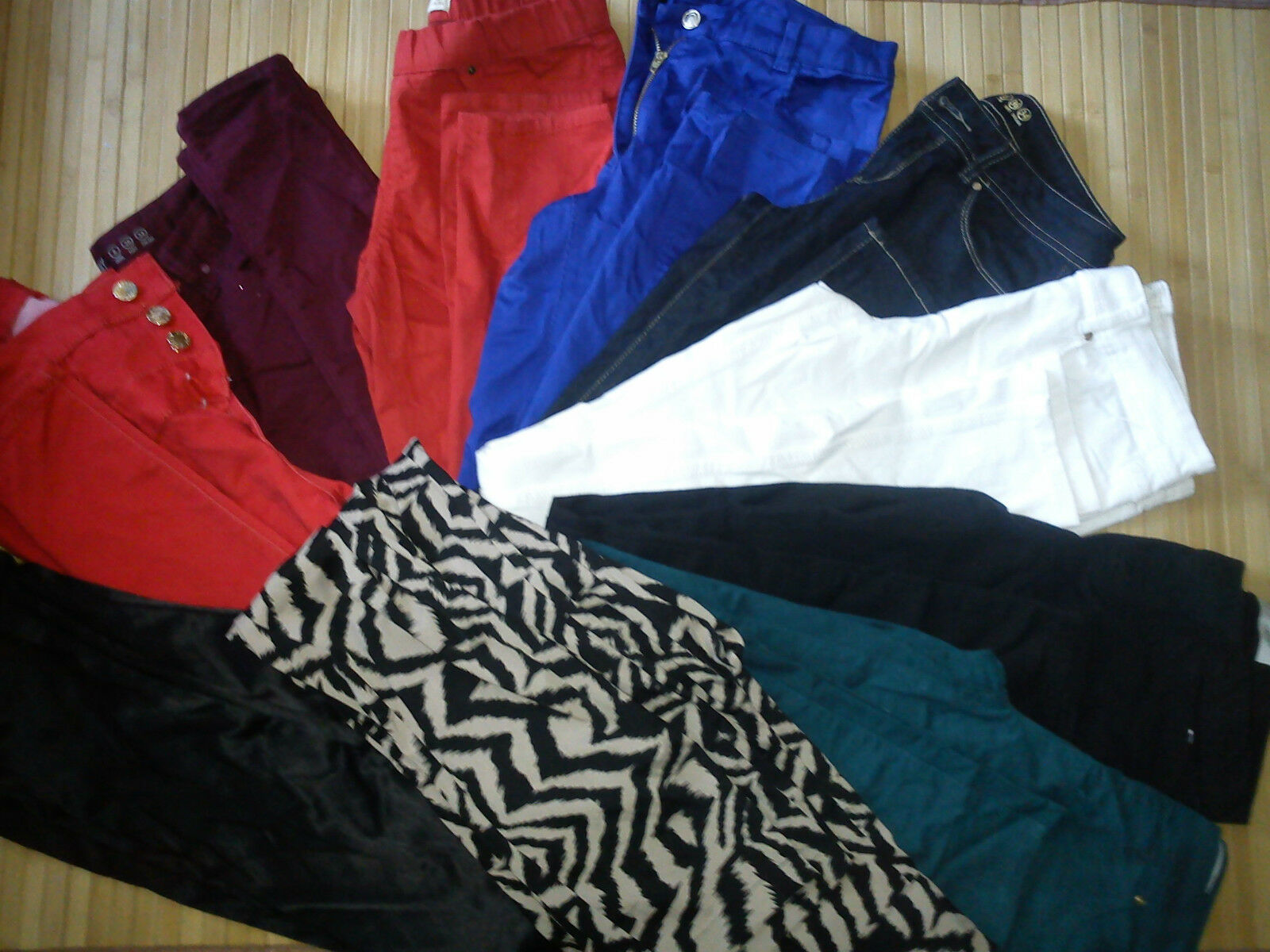 NICE USATO NUOVO 10x Bundle Donna Jeans Pantaloni Attillati Taglia 8 (3)