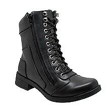 Women/'s Zipper Biker Apparel Leather Shoes Motorcycle Boots Daniel Smart 8650