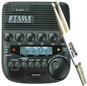 Tama-Rhythm-Watch-RW200-Metronom-KEEPDRUM-Drumsticks-1-Paar