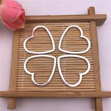 Wholesale 8pcs Tibet Silver Hollow Heart Charm Pendant Beaded Jewelry