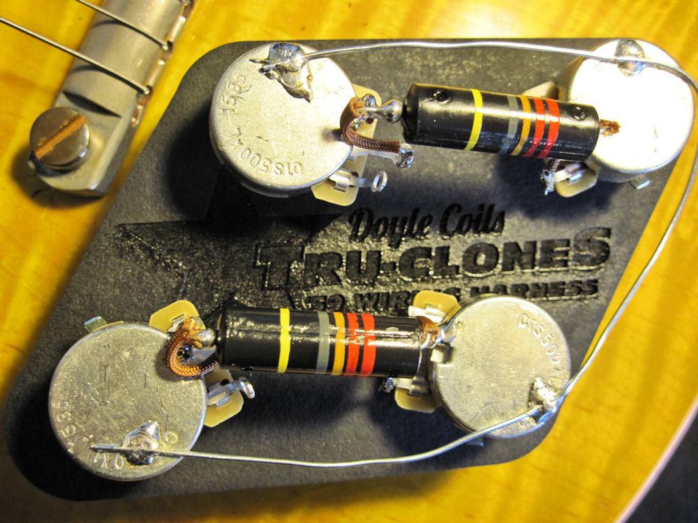 Doyle Coils TRU-CLONES Holy Grail '59 Les Paul Harness w Real Bumblebee PIO Caps