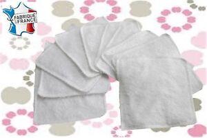 Lot-de-10-lingettes-lavables-eponge-coton-NEUVES-oekotex-standard-100