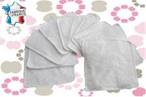 oekotex standard 100 Lot de 10 lingettes lavables éponge coton NEUVES