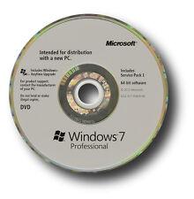 Original de Microsoft Windows 7 Professional os SP1 64 Bits Dvd Y Clave De Producto Certificado de Autenticidad