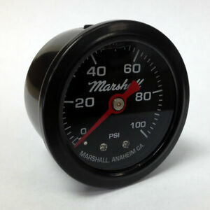 Marshall-1-5-034-Direct-Mount-Filled-Fuel-Oil-Pressure-Gauge-Black-Dial-LBB00100