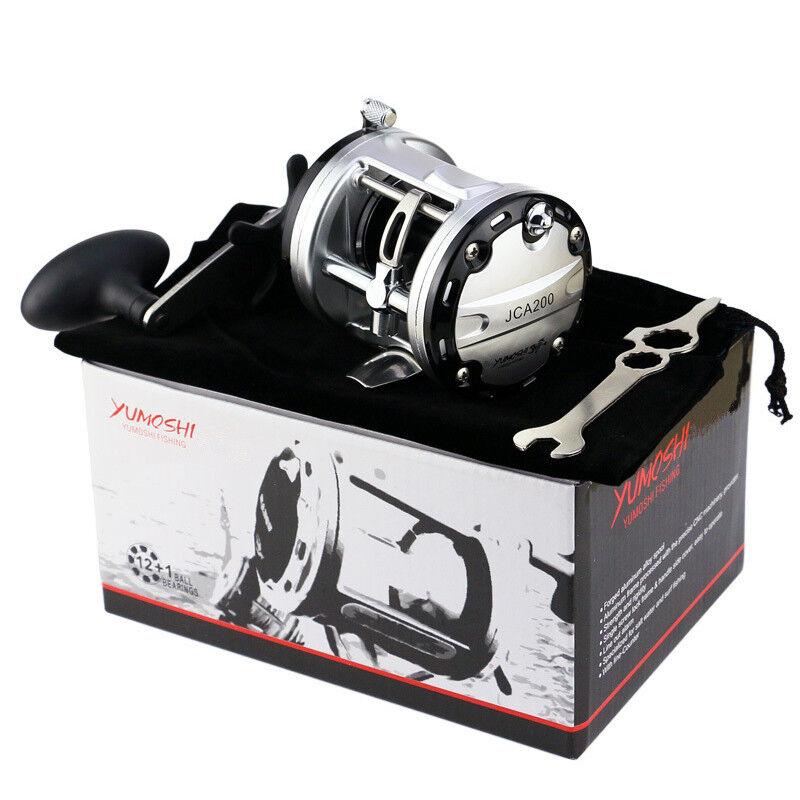 12+1BB Fishing Reel Casting Boat Wheel 5.6 1 Drum Trolling  Aluminum Alloy Spool  we offer various famous brand