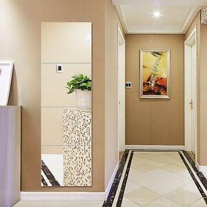 Set Of 8 Mirror Wall Tiles Square 15cmx15cm Self Adhesive Glass ...