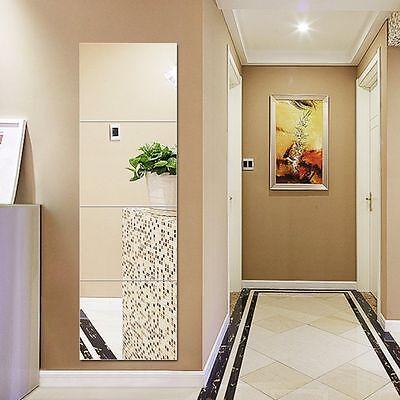 Set Of 8 Mirror Wall Tiles Square 15cmx15cm Self Adhesive