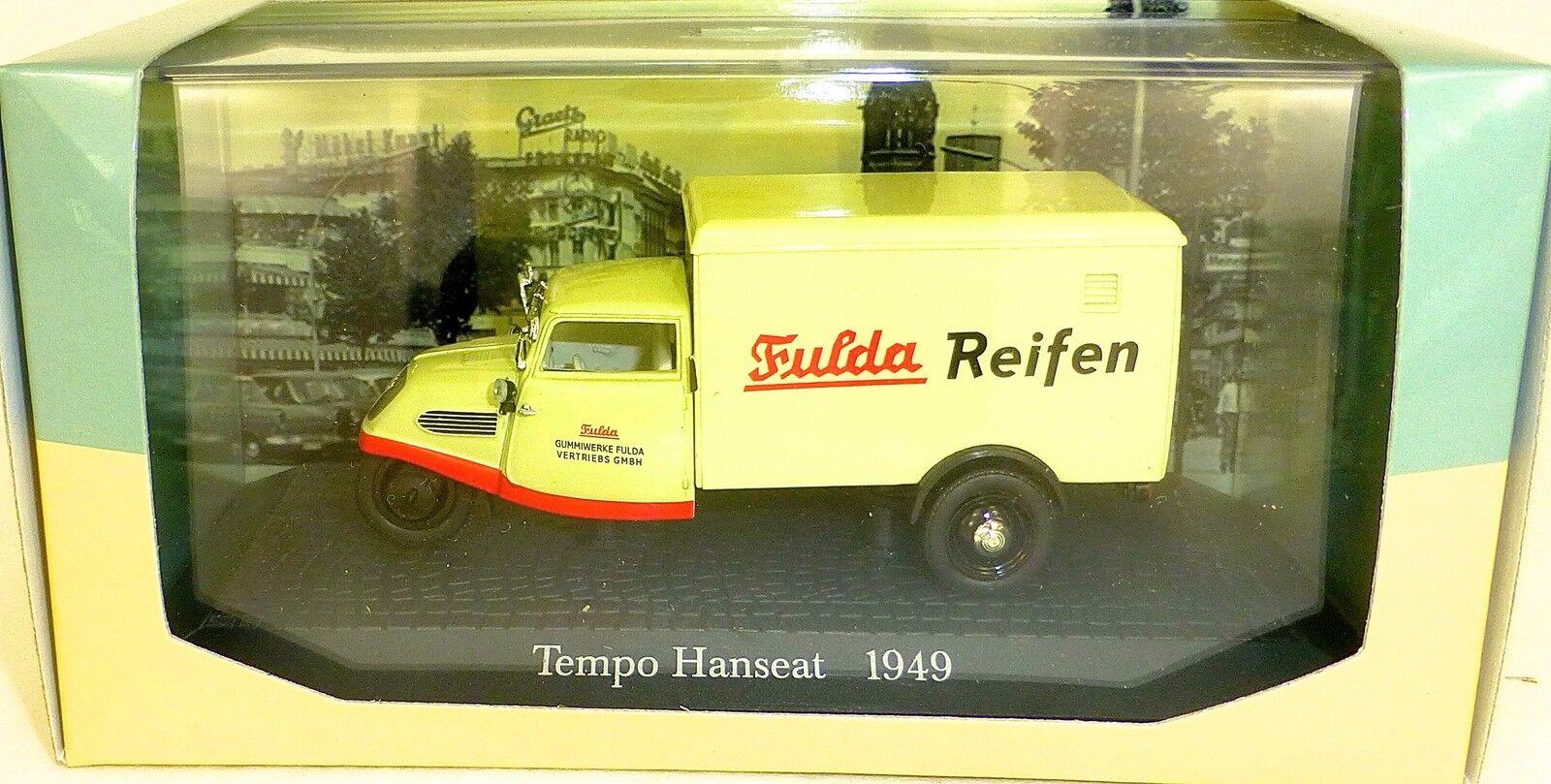 Tempo Hanseat 1949 Fulda Reifen 1 43 Atlas 7421108 Neuf en Boîte  Hs5 Μ