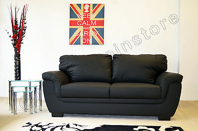 Superb Lazar Faux Leather Sofa Suite 2 Seater Black Nina Ebay Pdpeps Interior Chair Design Pdpepsorg