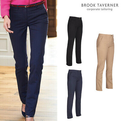 Caritatevole Brook Taverner Donna Houston Pantaloni Chino 2303-mostra Il Titolo Originale