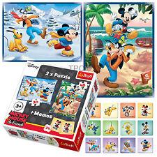 Trefl 2 In 1 30 + 48 & Memo Disney Mickey Mouse & Friends Skating Jigsaw Puzzle