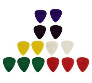 14-x-HARD-NYLON-GUITAR-PICKS-PLECTRUMS-extra-grip-acoustic-bass-electric-gauge