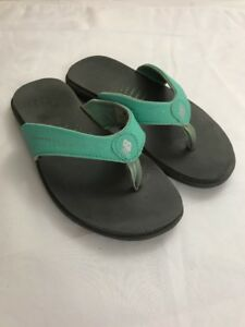 New-Balance-Womens-Renew-Thong-Flip-Flop-Sandal-Gray-amp-Green-Size-5