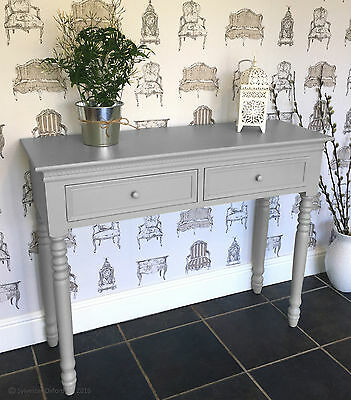 Dove GREY Belgravia style CONSOLE TABLE / Hall Table shabby/chic