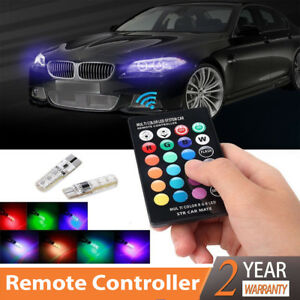 new-T10-5050-Remote-Control-Car-Led-Bulb-6-Smd-Multicolor-W5w-501-Side-Light