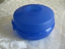 Tupperware Round Bagel Hamburger Sandwich Container Mini Salad Keeper Hinged Box