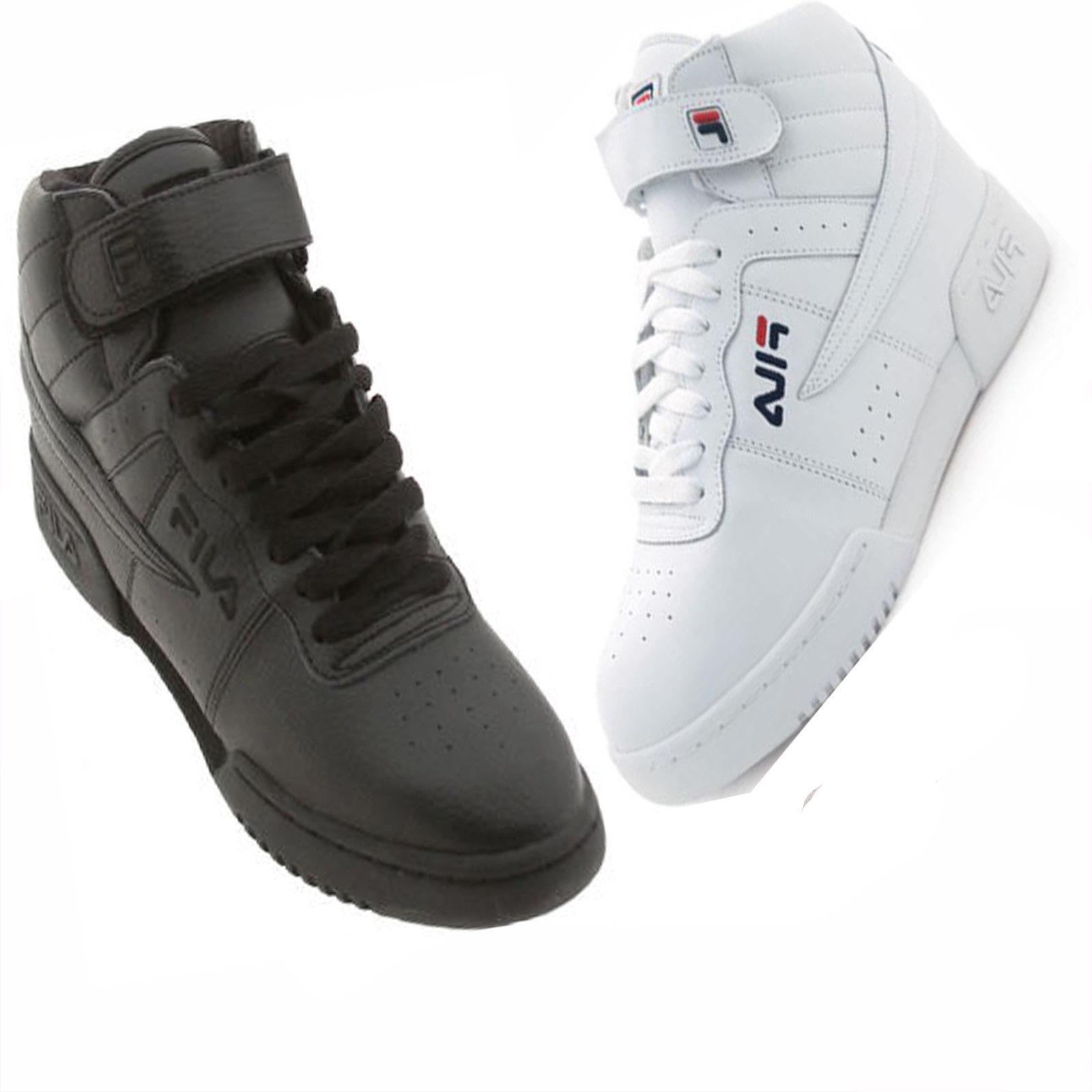 Fila F-13V Men's Triple White Basketball Sneakers