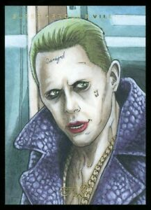 """2019 CZX DC The Joker Sketch Card by Mike """"Mikey"""" Babinski"""