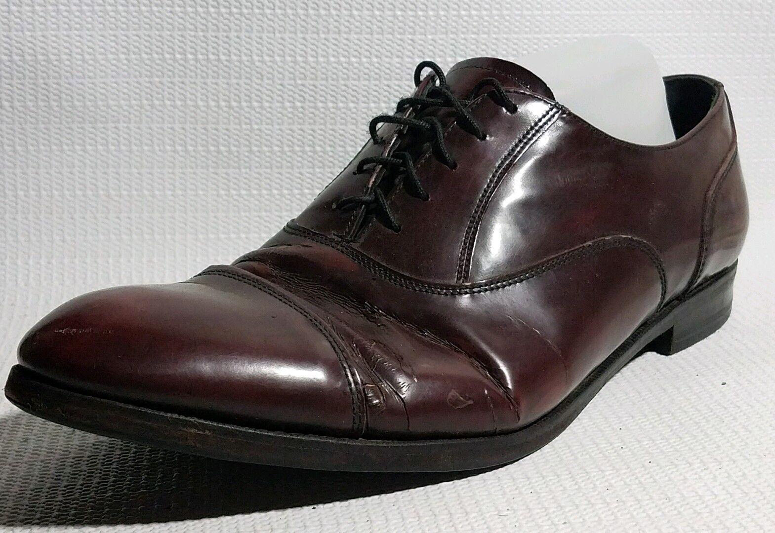 FLORSHEIM Cap Toe Oxford Burgundy Leather Mens 12 D Med Dress shoes 30386 Career