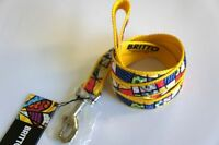 Romero Britto Dog Leash 48 In - Yellow -