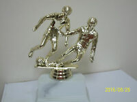 2 Soccer Players Award Trophy, Comes With Engraving, 5.5 High