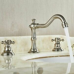 Deck-Mount-Bathroom-Sink-Mixer-Tap-Waterfall-Spout-Tub-Faucet-Brushed-Mixer-Tap