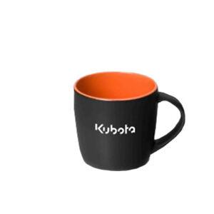 Kubota Branded Black and Orange Mug