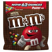 M&Ms Plain 62 oz PANTRY SIZE Original Bulk Chocolate Candy Bag