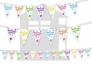 Welcome-Home-Shooting-Stars-Assorted-Colours-Bunting-Banner-15-flags-12ft