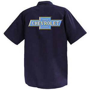 CHEVROLET-MECCANICA-Graphic-Work-Shirt-a-Manica-Corta
