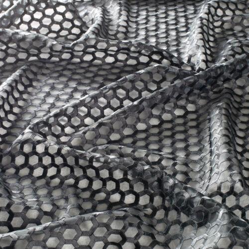 Noire Voile nids d/'abeilles-BRODERIE//Jab Crème morceaux/% 1 finaux écharpe De Tissu BO