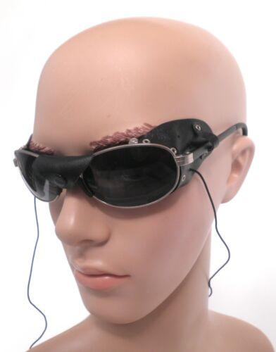 112 Sonnenbrille in Silber//Schwarz Motorad Bikerbrille Polobrille Herrenbrillen