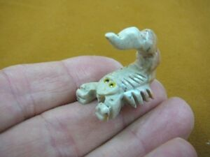 Details about Y-SCO-34) little white SCORPION stone carving SOAPSTONE Peru  love baby scorpions