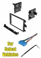 Double Din Stereo Radio Install Dash Car Mount Bezel Face Kit Combo For Some Gm