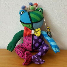 Romero Britto Plush Frederic Frog Prince Pop Art Stuffed Animal Medium 4031652