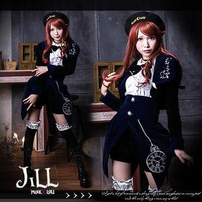 goth aristocrat cosplay Mr. perfect rabbit velvet dress suit costume JG3001