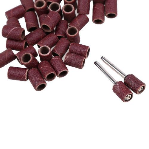 50stk Nachfüllen Trommel Schleifbänder Ärmeln 2x Spindel Set Für Holz Metall