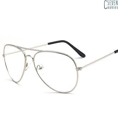 Oversized Round Clear Lens Aviator Fashion Sunglasses For Men Women Retro shades