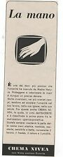 Pubblicità epoca 1952 CREMA NIVEA DONNA COSMESI advert werbung publicitè reklame