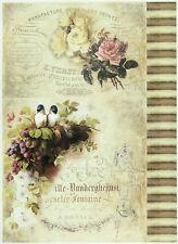 Rice Paper for Decoupage, Scrapbook Sheet, Craft Paper Roses & Raspberries