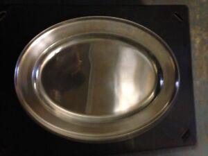 "Joblot of Ten 16"" Stainless Steel Oval Flats/Serving platters"