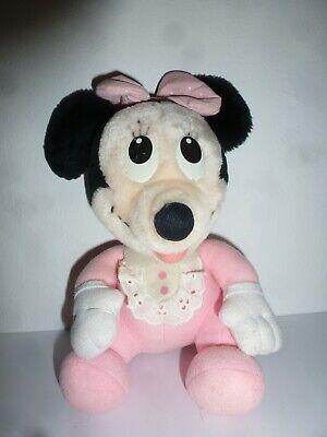 Realistisch Minnie Mouse Kuscheltier Weich Rosa Schleife Spitzenkragen 21 Cm Hoch Plüschtier Up-To-Date-Styling