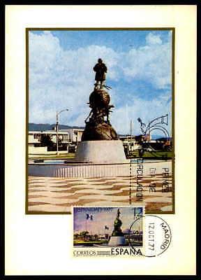 Briefmarken Maximumkarten Spain Mk 1977 Hispanidad Guatemala Kolumbus Denkmal Maximumkarte Mc Cm Df70 Up-To-Date-Styling