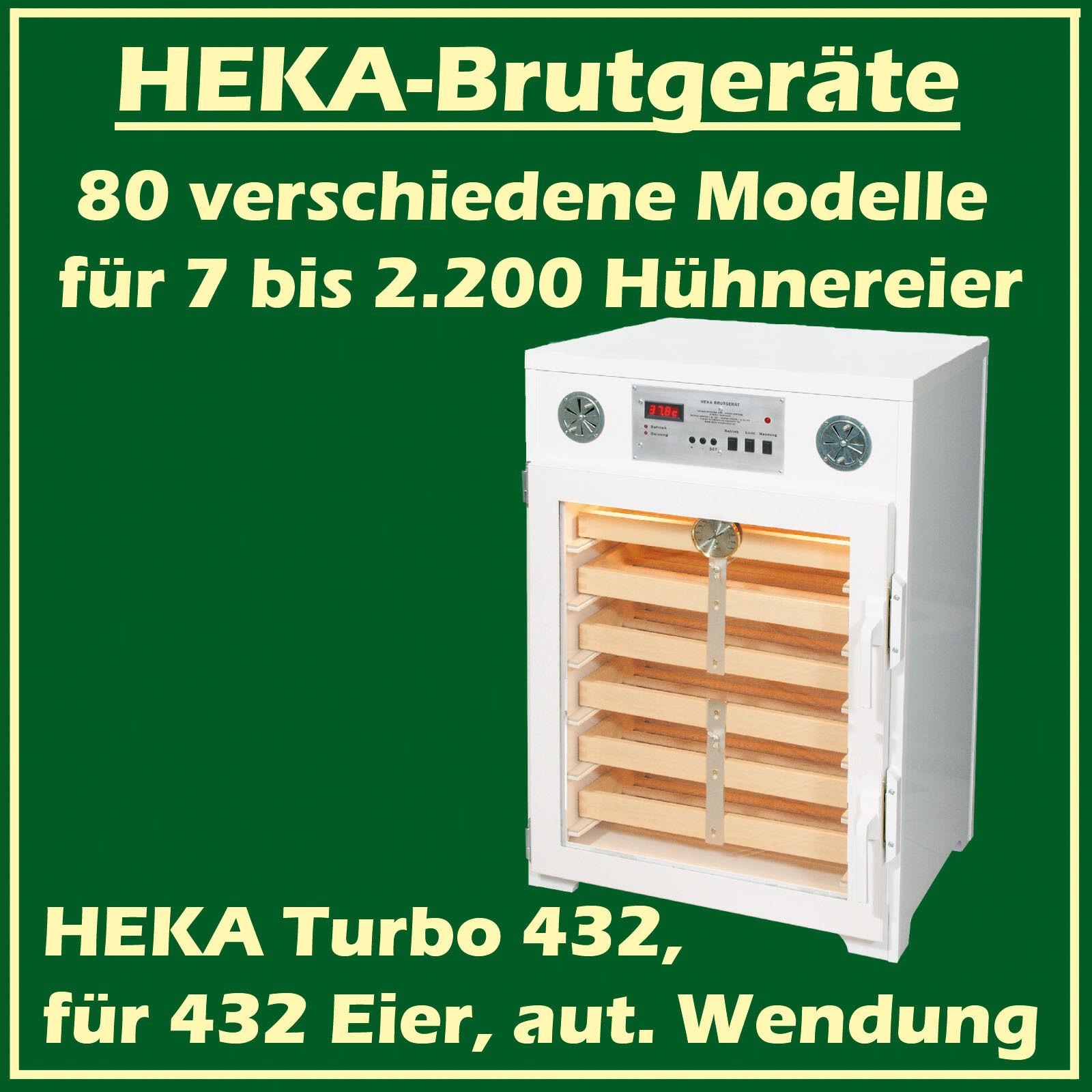 Heka Turbo 432 - Incubatrice in Plastica per 432 Uova, Uova, Uova, Con f14a6f